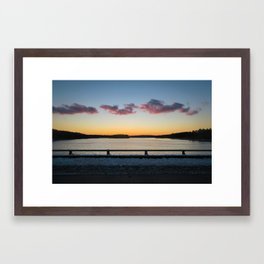 Sunset over Falls Lake (Raleigh, North Carolina) Framed Art Print