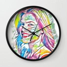 Ali Larter (Creative Illustration Art) Wall Clock