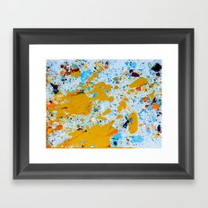 Yellow splat. Framed Art Print