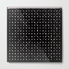 Black minimalist design print Metal Print
