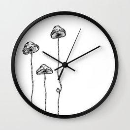 Mushroom Trio Wall Clock
