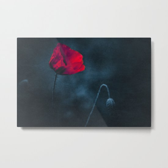 niGht blOOm - dark Poppy Metal Print