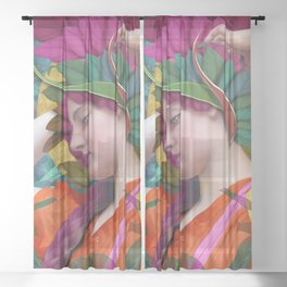 Pallas Athena Botanical Sheer Curtain