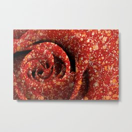 Vintage Lava Rose Metal Print