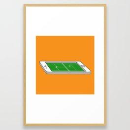 Tennis on an iPhone Framed Art Print