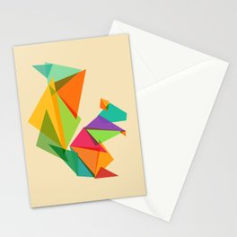 Fractal geometric Squirrel Stationery Cards