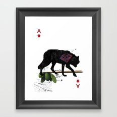 THE CONCLUSIVE ACE Framed Art Print