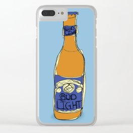 Bud Light Bottle Clear iPhone Case