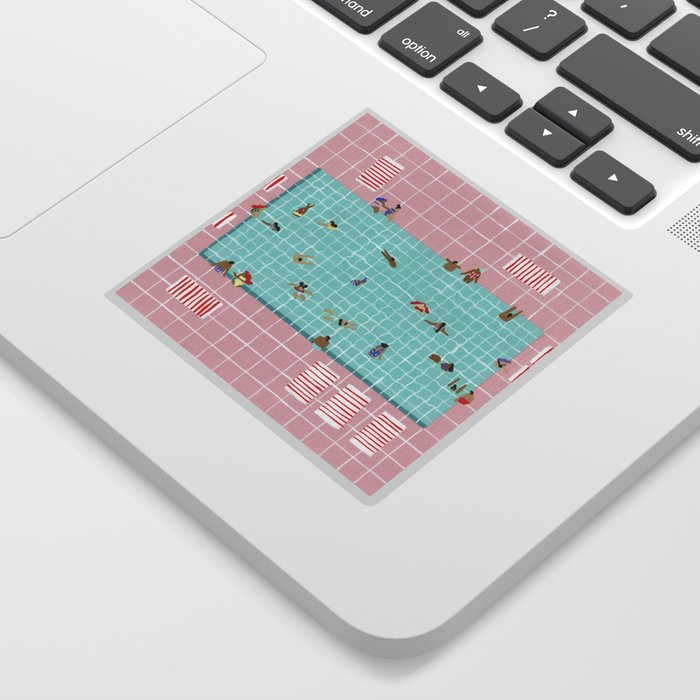 Pink Tiles Sticker