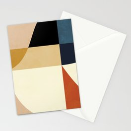 mid century abstract shapes fall winter 14 Stationery Cards