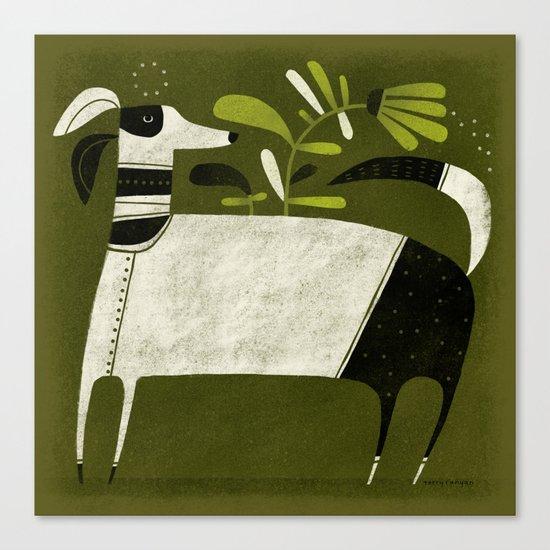 BLACK & WHITE PAJAMAS Canvas Print