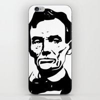 lincoln iPhone & iPod Skins featuring LINCOLN $ by b & c