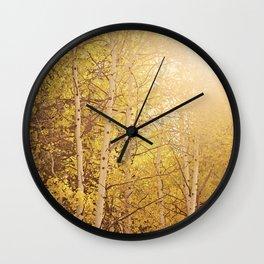Fall Aspen Trees Wall Clock