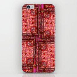 no. 197 orange pink pattern iPhone Skin