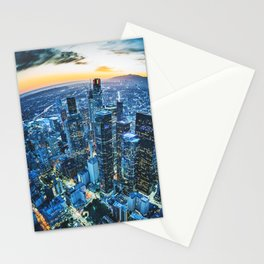 los angeles downtown Stationery Cards