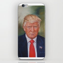 The 45th President of the United States of America, Donald J Trump by Lydia Sturges iPhone Skin