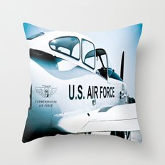 US Air Force Airplane Throw Pillow