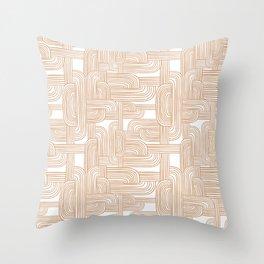 Woven Roads Peach Throw Pillow