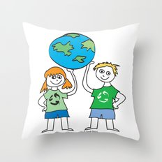 Recycle Message Kids Throw Pillow