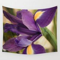 iris Wall Tapestries featuring Iris by Light Wanderer