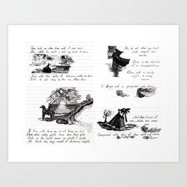 90's Sonnet Art Print