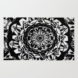 Black Mandala Rug