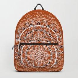 Detailed Burnt Orange Mandala Backpack