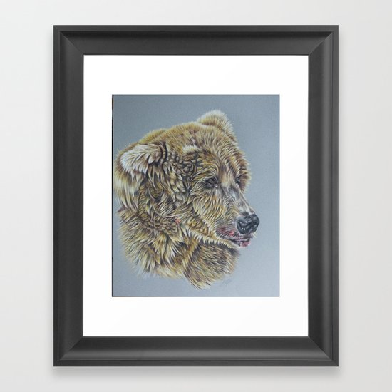 Otis, Golden Bear Framed Art Print