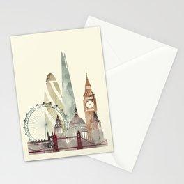 London skyline art Stationery Cards
