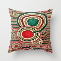 family Throw Pillows featuring Family by Yukska