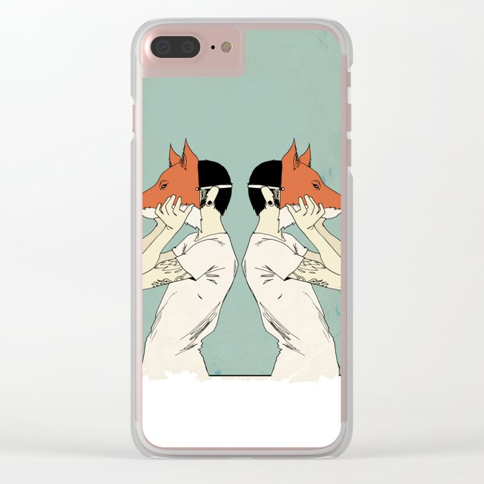 Foxes Print take 2 Clear iPhone Case