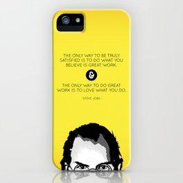 Steve Jobs Quote iPhone Case