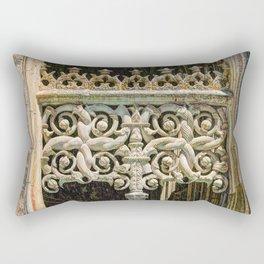 Gothic tracery at Batalha Rectangular Pillow