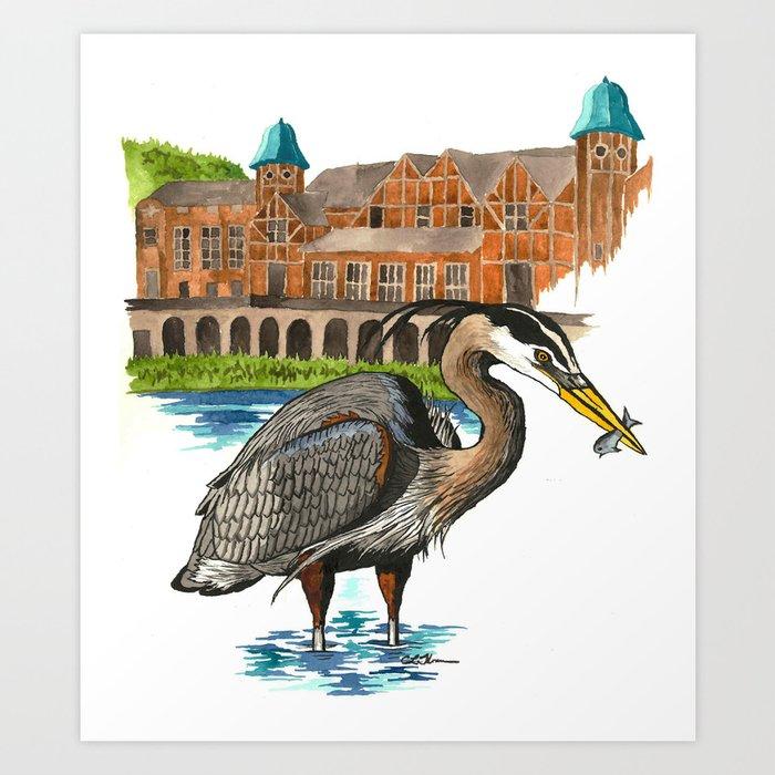 Great Blue Heron in Humboldt Park Art Print