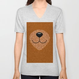 Teddy Bear Nose and Mouth Unisex V-Neck