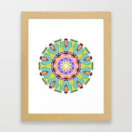 Geometric circle element Framed Art Print