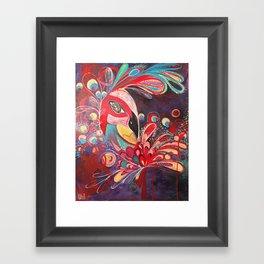 Peacock Love. Framed Art Print