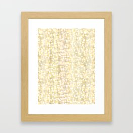 Luxe Gold Woven Burlap Texture Hand Drawn Vector Pattern Background Framed Art Print