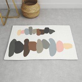 Colorful Stones Balancing Rug