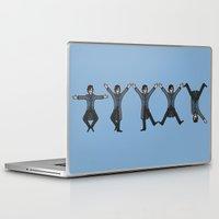 conan Laptop & iPad Skins featuring Dancing Sherlock by Doodle Dojo