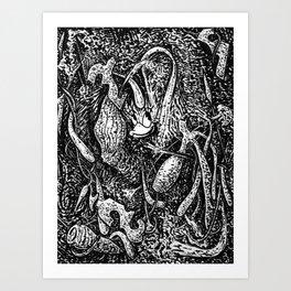 Daisy Vortex Art Print