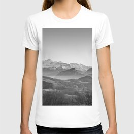The View (Black and White) T-shirt