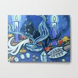 Black Cats Alter Metal Print