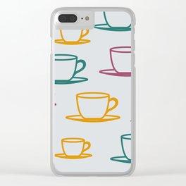 Teacups - multicolored Clear iPhone Case