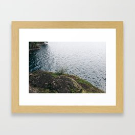 Rocks And Waters Framed Art Print