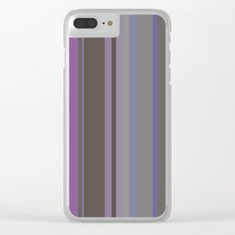 Stripes in colour 14 Clear iPhone Case