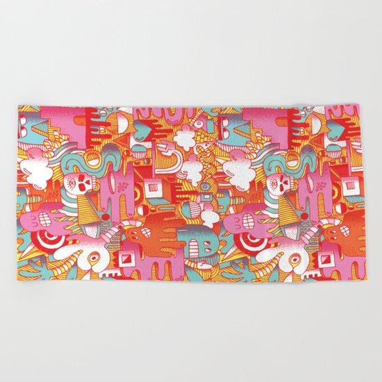 ABSTRACT 0017 Beach Towel