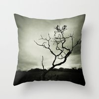 alone Throw Pillows featuring ALONE by Christina Lynn Williams
