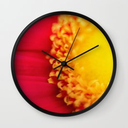 Think of the Sun - Fine Art Yellow and Red Nature Photography, Flower Wall Clock