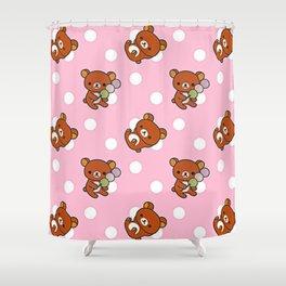 Cute Bear Shower Curtain